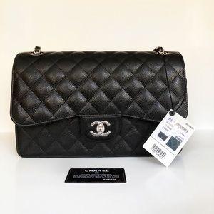 Chanel Caviar Jumbo Flap Bag